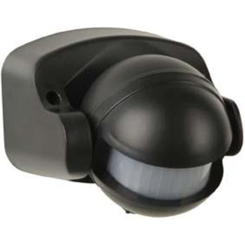 Bewegungsmelder AP-STA 180 Grad, schwarz