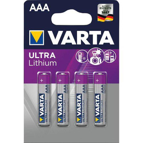 Batterie Professional Lithium AAA Blister a 4 Stück VARTA