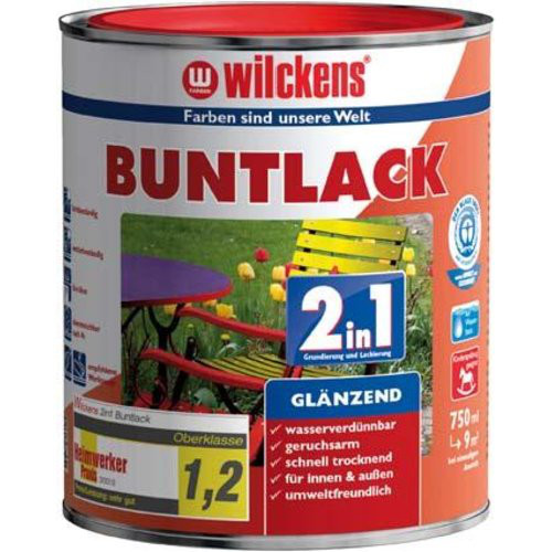 Buntlack 2in1, 375 ml glänz., feuerrot RAL3000
