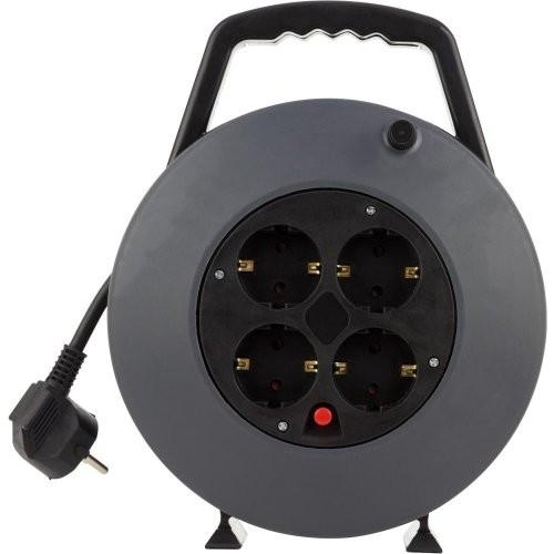 Kabelbox 4fach 5 m 3G1,5 schwarz