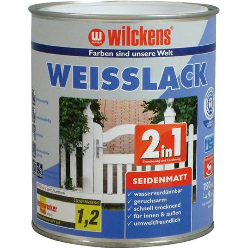 Weißlack 2in1 750 ml, seidenmatt