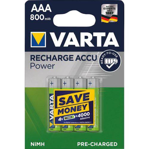 VARTA Power Accu R2U AAA Micro, HR03, 800 mAh