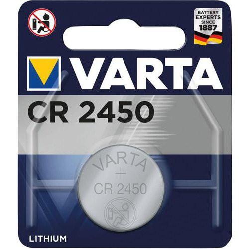 VARTA Electronics LithiumCR 2450, 3V, 1 Blister