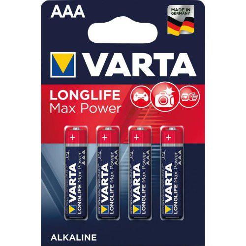 Batterie MAX TECH AAA DE-Blister a 4 Stück VARTA
