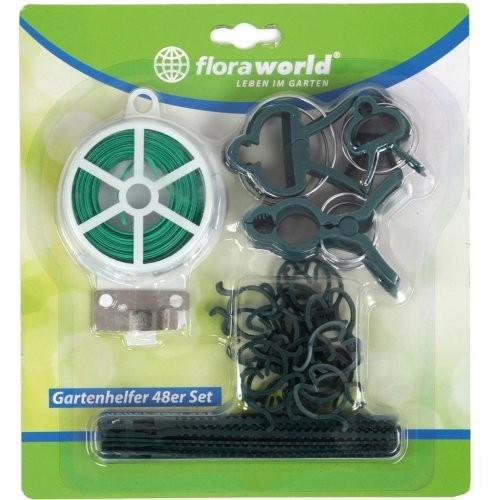 Gartenhelfer-Set 48 tlg. Grün Floraworld