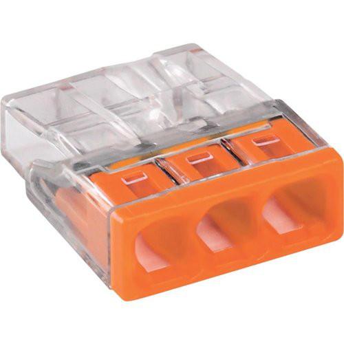 Wagoklemme 3x0,5-2,5qmm orange