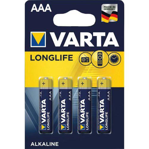 Batterie LONGLIFE AAAMicro, 4-er Bli. Varta