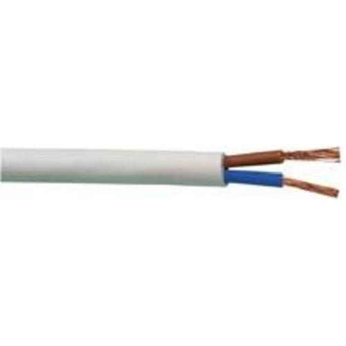 PVC-Schlauchleit. H03VV-F2x0,75mm2, 25m-Ring,ws