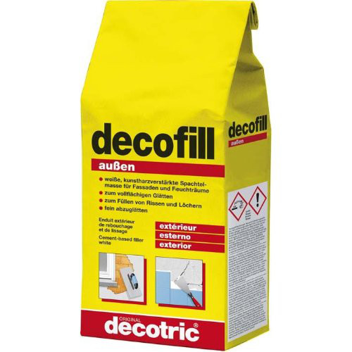 Decofill Spachtelmasse 1kg, außen decotric