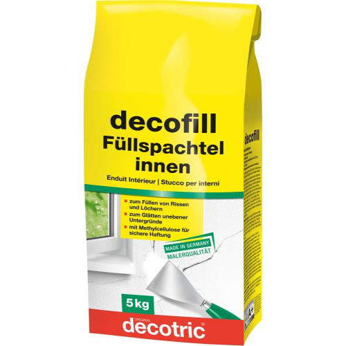 Decofill Spachtelmasse innen, 5 kg,Tüte decotric
