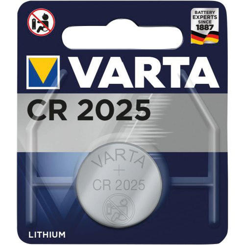 Knopfzelle Electronics CR 2025 VARTA