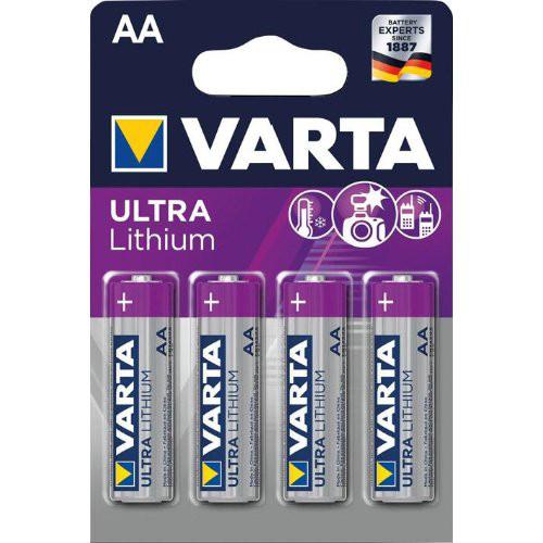Batterie Professional Lithium AA Blister a 4 Stück VARTA