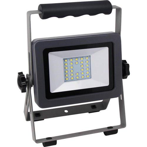 LED Fluter Flare 20W auf Ständ schwarz-silber