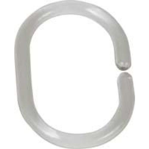 Duschvorhang-Ringe transparent, 12-er Set
