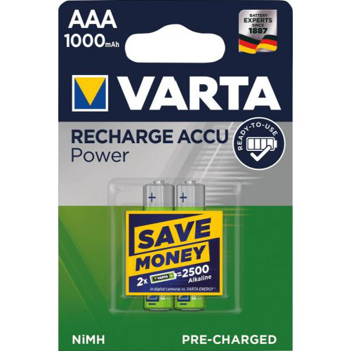 Batterie RECHARGEABLE Akku AAA 1000mAh VARTA