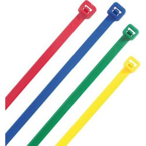 Kabelbinder farbig sort. 300x4,8mm.100 St.Heideman