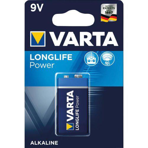 Batterie LONGLIFE Power 9 V E-Block Blister a 1 Stück VARTA