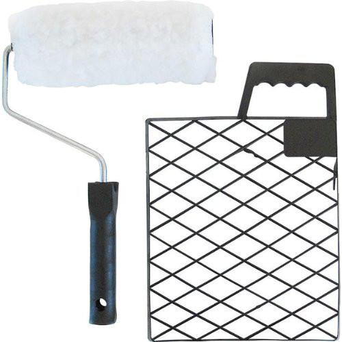 Farbroller-Set Vestan Polyester weiß, FH 20 mm mit Sieb