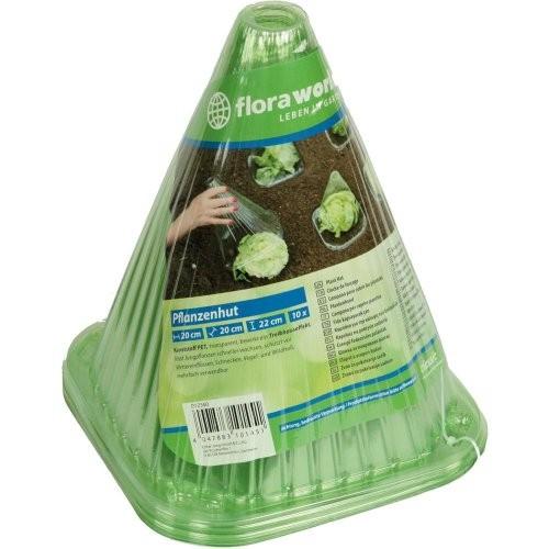 Pflanzenhut 10er Set Kunststoff, grün