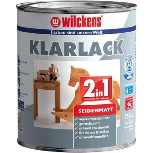 Klarlack 2in1, 375 ml seidenmatt