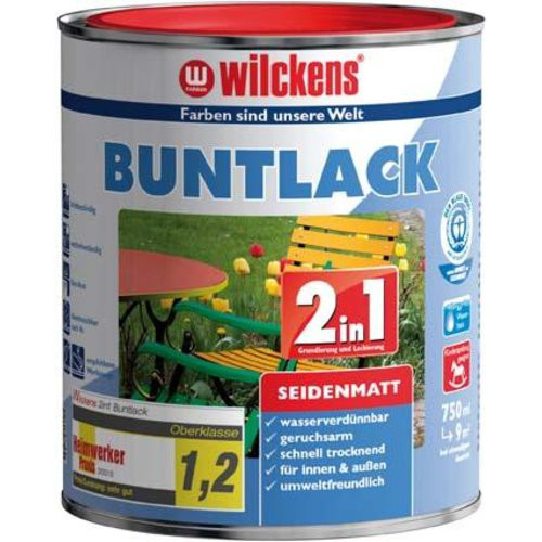 Buntlack 2in1, 125 ml seidenma,tiefswz. RAL9005