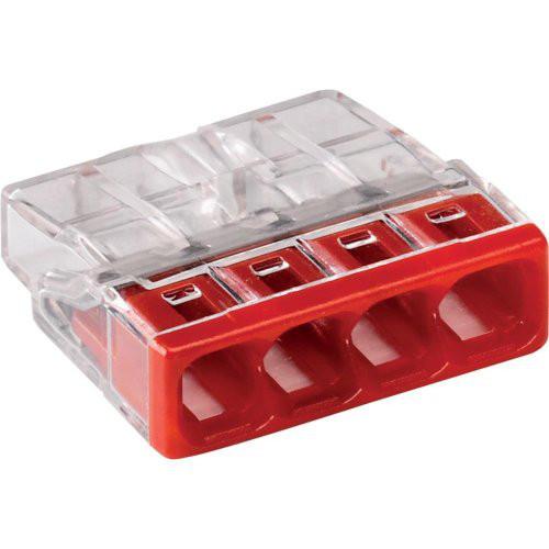 Verbind.-Klemme VDE Wago-COM. 4x0,5-2,5qmm rot 6St