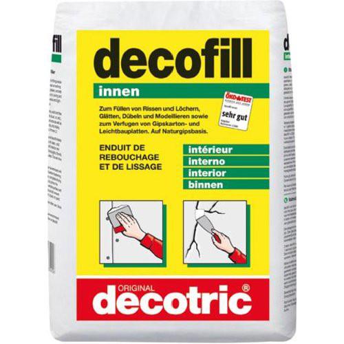 Decofill Spachtelmasse 10kg Sack, innen decotric
