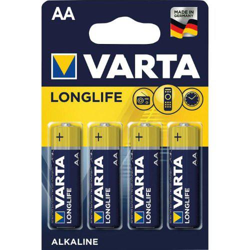 Batterie LONGLIFE AA Mignon, 4-er Bli. Varta